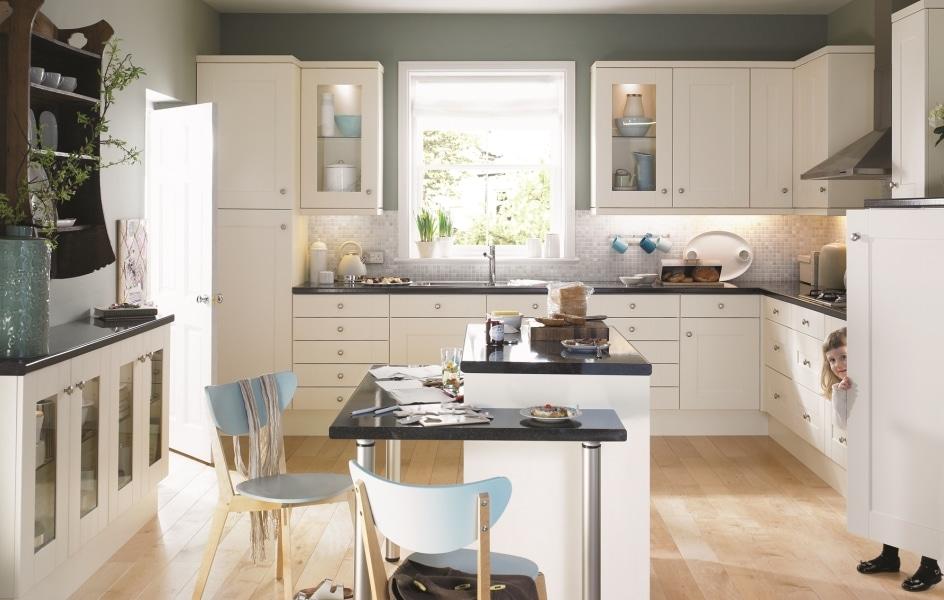 Colonial Kitchen Range Aurora Kitchens, Oyster Bed Kitchen Cabinets